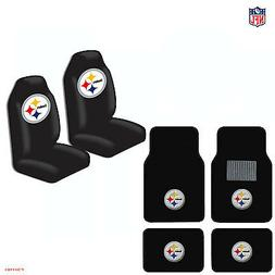 New NFL Pittsburgh Steelers Car Truck  Seat Covers & Carpet