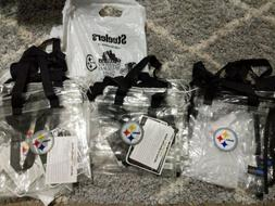 New NFL Pittsburgh Steelers Clear Square Zip Tote  Game Day