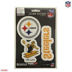 New NFL Pittsburgh Steelers Vinyl Die-Cut Decal Stickers 3-P