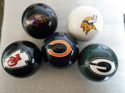 New!  Team Double Logo Billiard / Pool / Cue Ball- Pick Your