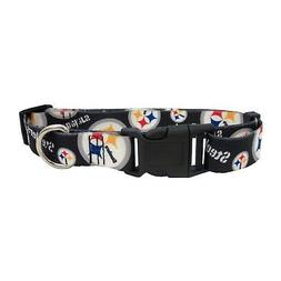 NEW PITTSBURGH STEELERS DOG PET ADJUSTABLE NYLON COLLAR ALL