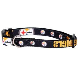 NEW PITTSBURGH STEELERS DOG PET PREMIUM ADJUSTABLE NYLON COL