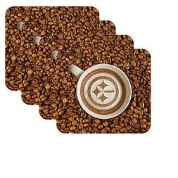 NEW PITTSBURGH STEELERS LATTEAM COFFEE ART 4pk COASTER SET P