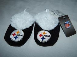 NEW Pittsburgh Steelers Slipper Shoes Slip Socks Booties Foo