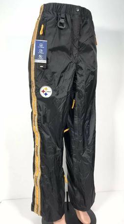 New Pittsburgh Steelers TAILGATE WATERPROOF PANTS MENS Sz Me