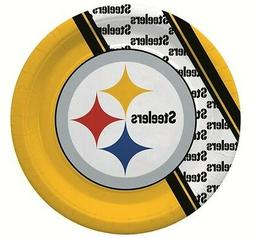 NFL 20  9.75 inch Disposable Paper Plates, Pittsburgh Steele