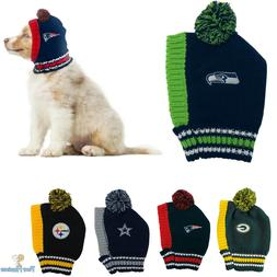 NFL Fan Gear Pet Dog Hat Knitted Cold Weather For Dogs Pets