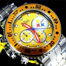 Invicta NFL Grand Pro Diver Pittsburgh Steelers Yellow Chron