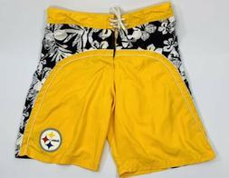 NFL Team Apparel Mens Size XXL Pittsburgh Steelers Black Gol