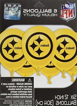 Amscan NFL Party Pittsburgh Steelers Latex Balloons Decorati