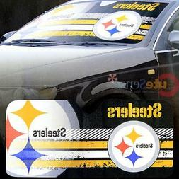 NFL Pittsburgh Steelers Car Windshield Front Window Sun Shad