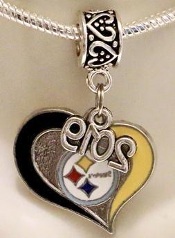 NFL Pittsburgh Steelers 2019 Heart Pendant Charm for Charm B