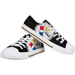 NFL Pittsburgh Steelers Big Logo Low Top Men's Sneakers Shoe