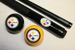 NFL Pittsburgh Steelers Billiard Pool Cue Stick & Team Logo