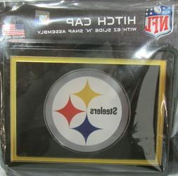 NFL Pittsburgh Steelers Black Laser Cut Trailer Hitch Cap Co