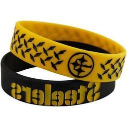 NFL Pittsburgh Steelers Bulky Bandz Bracelet 2-Pack
