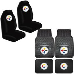 NFL Pittsburgh Steelers Car Truck Front Back Rubber Floor Ma