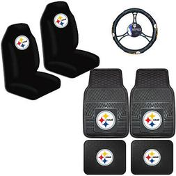 NFL Pittsburgh Steelers Car Truck Seat Covers Floor Mats & S