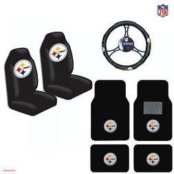 NFL Pittsburgh Steelers Car Truck Seat Covers Floor Mats Ste