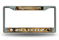 NFL Pittsburgh Steelers Chrome Licensed Plate Frame