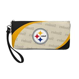 NFL Pittsburgh Steelers Women's Curve Zip Organizer Wallet,