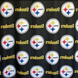 NFL Pittsburgh Steelers Fabric Shower Curtain 72x72 Football