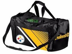 NFL Pittsburgh Steelers Gym Travel Luggage Border Stripe Duf