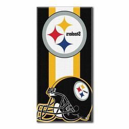 "NFL Pittsburgh Steelers Logo Cotton Beach Towel 30"" x 60"" Br"