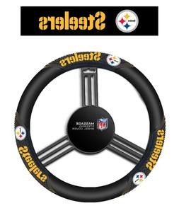 Fremont Die NFL Pittsburgh Steelers Massage Grip Steering Wh