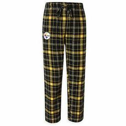 NFL Pittsburgh Steelers Men's Flannel Plaid Pajama Pant with