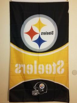 nfl pittsburgh steelers official flag banner 3