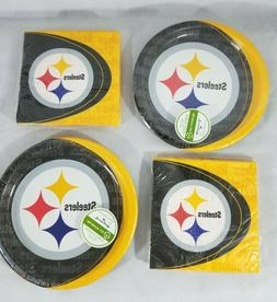 NFL Pittsburgh Steelers Party Pack Tailgate  Paper Plates  N