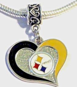 NFL Pittsburgh Steelers Pendant Charm for European Charm Bra