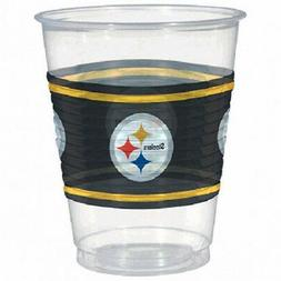 NFL PITTSBURGH STEELERS PLASTIC CUPS  ~ Birthday Party Suppl