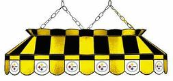 NFL Pittsburgh Steelers Stained Glass Pool Table Light - NEW