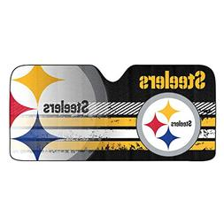 NFL Pittsburgh Steelers Universal Auto Shade, Large, Black