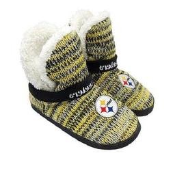 NFL Pittsburgh Steelers Women Peak Boot Slippers Fluffy For