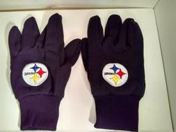 NFL Pittsburgh Steelers Work Cotton Utility Gloves Black Men