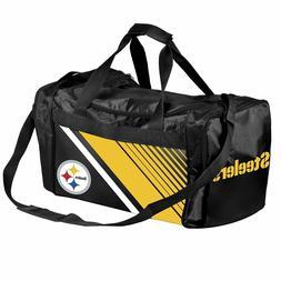 NFL Pittsburgh Steelersborder Stripe Duffle Bag, Pittsburgh