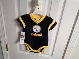 NFL TEAM APPAREL ROMPER CREEPER PITTSBURGH STEELERS BABY JER