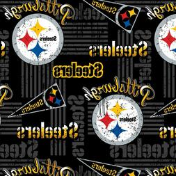 BTHY NFL Pittsburgh Steelers Logo Pendant Black Cotton Fabri