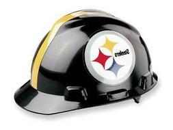 MSA 818407 NFL V-Gard Hard Hat, Pittsburgh Steelers, Black/Y