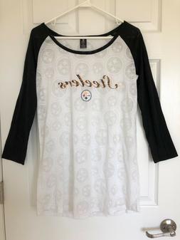 NWOT Pittsburgh Steelers sleepwear night shirt M burn out fa