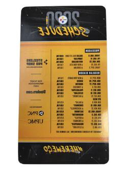 official 2020 pittsburgh steelers schedule magnet 9x5