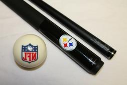 Official NFL Pittsburgh Steelers Billiard Pool Cue Stick & N