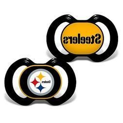 Baby Fanatic 2 Piece Pacifier Set, Pittsburgh Steelers