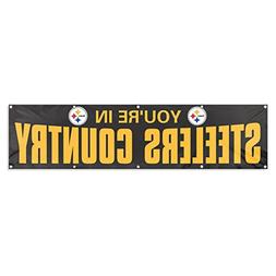 Party Animal Pittsburgh Steelers 8'x2' NFL Banner