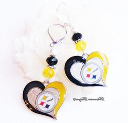 Pittsburgh Steeler Earrings, Love My Steelers, Pro Football