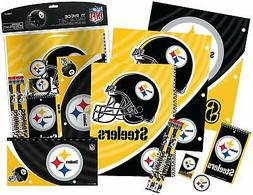 Pittsburgh Steelers 11pc NFL School Stationery Set Pencils E