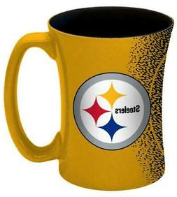 Pittsburgh Steelers 14oz Mocha Design Coffee Mug  NFL Tea Cu